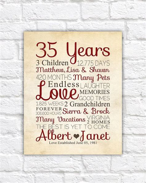 35th Wedding Anniversary Card Quotes by Best 25 35th Wedding Anniversary Ideas On