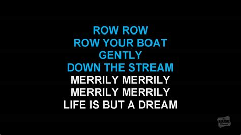 row your boat karaoke row row row your boat round version in the style of