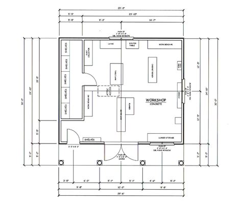 woodworking shop floor plans workshop organization michael curtis dream shop
