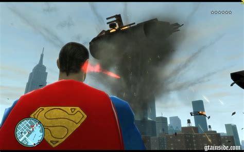 gta superman mod game free download gta 4 new superman script v1 0 mod gtainside com