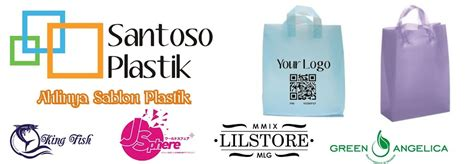 Plastik Pp 15x30 Tebal 05 Sablon 1 Warna grosir kantong plastik shopping bag soft loop handle