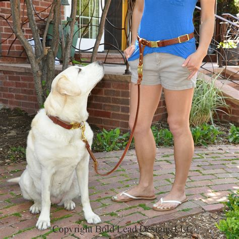 service leash leather belt leash system a custom free belt with detachable leash