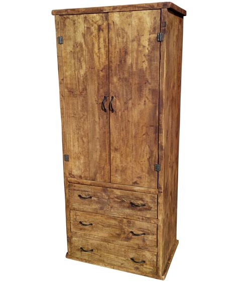 Bar Wardrobe by The Rustic Iron Bar Wardrobe With Drawers Ely Rustic Furniture