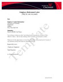 retirement letter from employer to employee template 10 best images of notice of retirement to employer