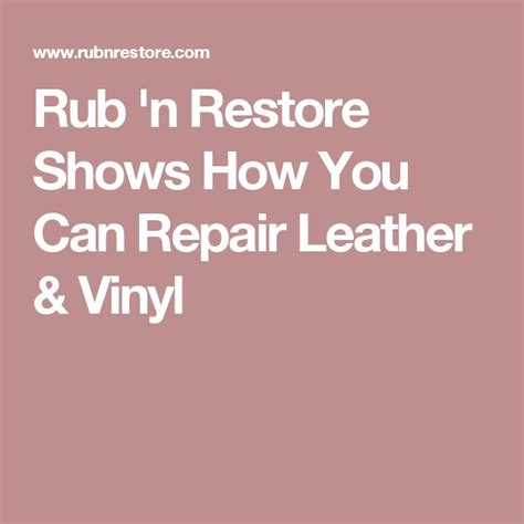 How Do You Fix A In A Leather by 1000 Ideas About Leather Repair On Leather