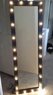 Vanity Makeup Mirror With Light Bulbs Items Similar To Full Length Lighted Vanity Mirror On Etsy