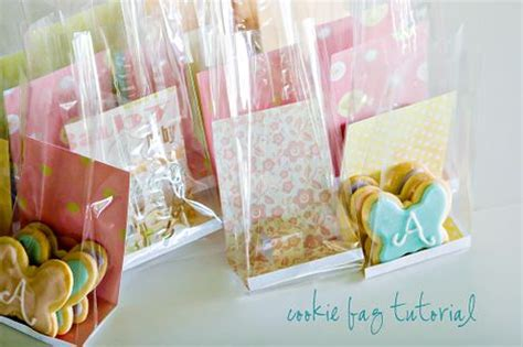 Plastik Cookies Kue Baking Souvenir Wrap Murah use patterned paper for backing in clear treat bags a
