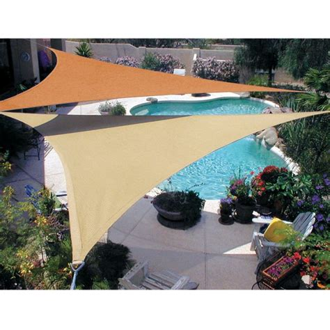 Triangular Patio Awnings Shade Sails Make Your Garden Charming And Cool Quictent