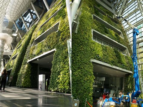 Interior Designer Homes by 7 Story Indoor Green Wall Is As An Enormous Air Filter For