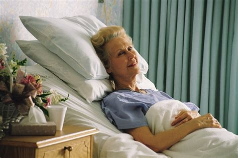 cancer woman in bed some seniors recover faster than others after hip fracture