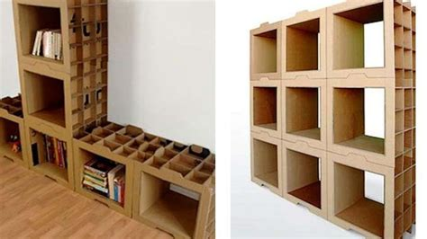 tutorial membuat rak buku dari kardus bekas jangan biarkan kardus jadi sah yuk jadikan rak buku