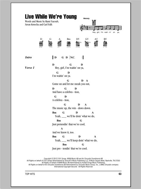 strumming pattern for you and i one direction live while we re young sheet music by one direction