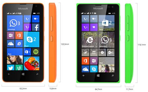 Hp Android Nokia Lumia 435 beda harga ini perbandingan lumia 430 vs lumia 435