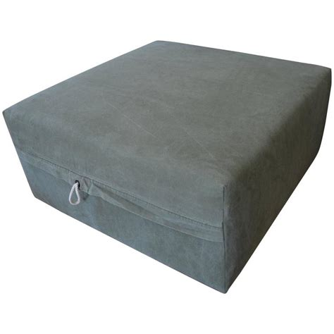 Canvas Ottoman Ottoman Upholstered In Vintage Tent Canvas Mounted On Rustic Barn Board Frame For Sale At 1stdibs