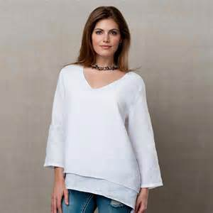 layered linen tunic top women s garment dyed easy fit at