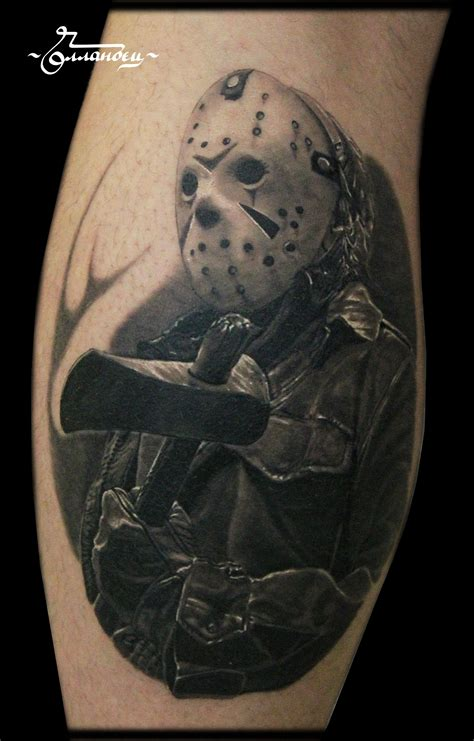 jason mask tattoo jason voorhees friday the 13th by gollandets