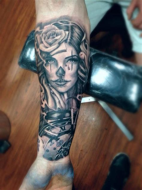dead head tattoo designs forearm placement day of the dead ink ideas