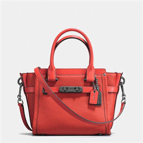 Tas Coach Original Coach Swagger 21 Gunmetal 1 coach swagger 21 in pebble leather in lyst