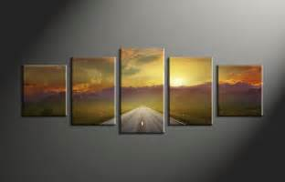 wall paintings wall art designs multi panel wall art 5 piece canvas art prints landscape pictures evening