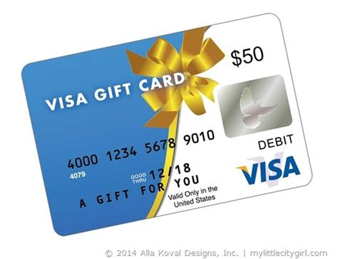 50 Visa Gift Card - giveaway my little citygirl