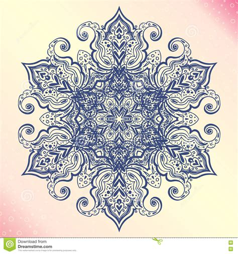 amulet tattoo mandala floral vintage amulet stock vector