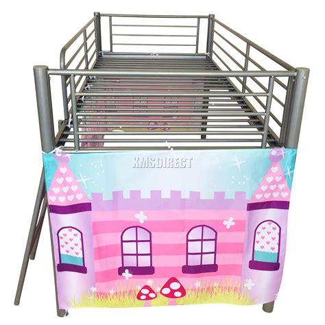 Metal Mid Sleeper by Foxhunter Childrens Metal Mid Sleeper Cabin Bunk Bed