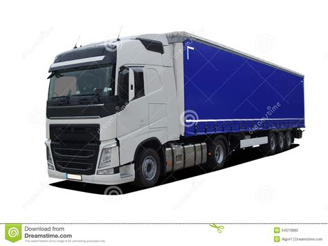 semi trailer truck large truck with semi trailer stock illustration image