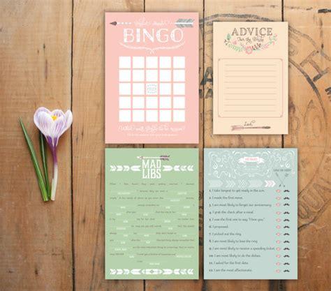 printable bridal shower paper printable bridal shower games set love struck bingo he