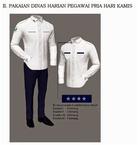 Pakaian Dinas Harian permenkes nomor 12 tahun 2015 tentang pakaian dinas harian