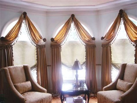 vaulted ceiling curtain ideas unique window treatment ideas arches decorated for a