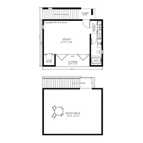 guest house plan modern studio