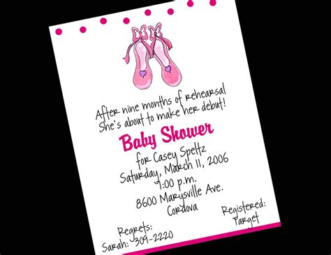 Ballerina Baby Shower Invitations Theruntime Com Ballerina Baby Shower Invitation Templates