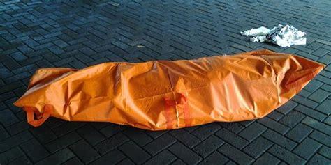 Tas Ransel Conan mayat pria di danau ui gendong tas berisi batu merdeka