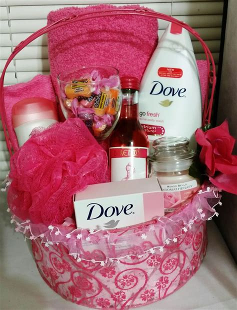 bathroom gift basket ideas dove bath basket pomegranate and lemon verbena