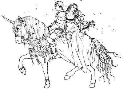prince and princess on horse coloring page