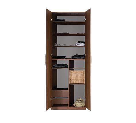 Narrow Closet Shelving by Designer Wardrobe Closet W 2 Doors Separate Compartments