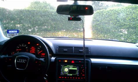 v1 radar b7 a4 v1 radar detector rear view mirror mount