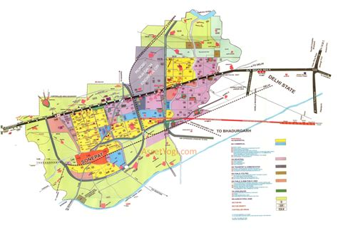 layout and land use of chandigarh sonipat master plan 2021 map summary free download