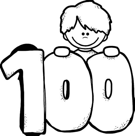 coloring page of the number 100 animal number 0 clipart free clip art images coloring