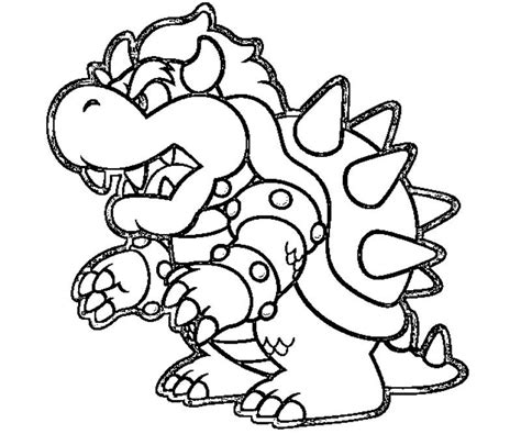 coloring page bowser baby bowser coloring pages coloring home