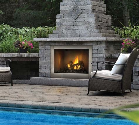 outdoor fireplace inserts gas napoleon riverside series 42 quot clean outdoor stainless