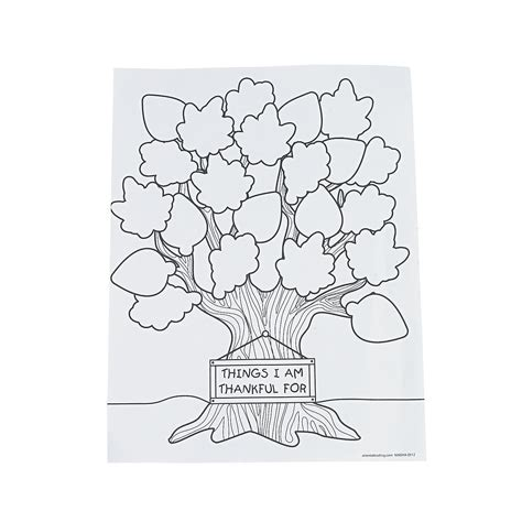 pages trading thankful tree coloring page
