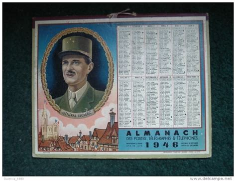 Calendrier De 1946 Calendrier Almanach Des Ptt 1946 1949