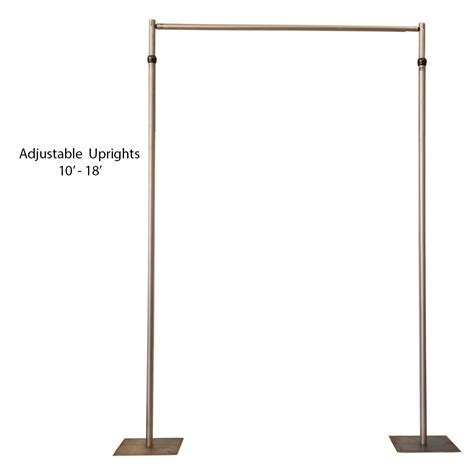 adjustable pipe and drape pipe and drape adjustable 10 18 tall celebrations
