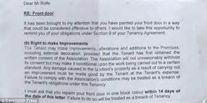 Permission Letter Housing Society Steven Rolfe Ex Soldier Told To Repaint His St George S