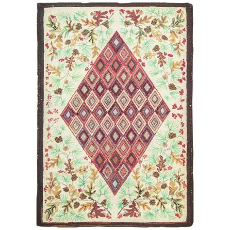 Antique American Rugs by Antique American Hooked Rug For Sale At 1stdibs