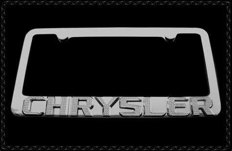 chrysler 300 license plate frame chrysler chrome license plate frame w iced out emz
