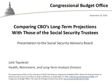 Okc Social Security Office by Comparing Cbo S Term Projections With Those Of The