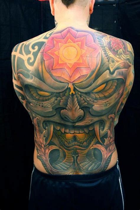 full back piece by watsun atkinsun tattoonow demon back piece by maurizio brughera tattoonow