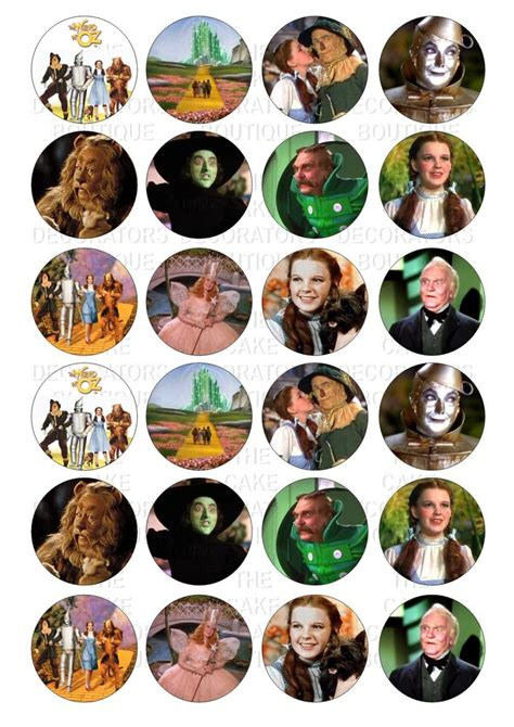 24 wizard of oz iced icing cupcake topper edible